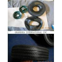 Buy cheap Rubber Wheel 4.10/3.50-4  TYRE TIRE TUBE from wholesalers