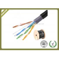 Buy cheap Outdoor water blocking oxygen free copper shielded Cat5e  UTP cable 305M 0.5mm diameter from wholesalers