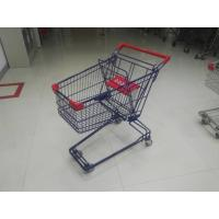 Wholesale Plastic Safety 75L Retail Wire Shopping Trolley With Easy Pushing Handle from china suppliers