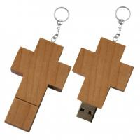 Wholesale Best selling wooden cross usb stick logo 1GB 2GB 4GB 8GB 16GB 32GB from china suppliers