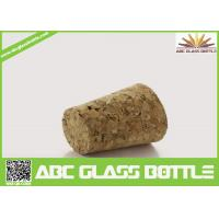 Quality Wholesale wooden synthetic round small glass bottle wooden cork manufacturers, cork stopper for sale