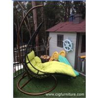 Wholesale Encase Rattan Outdoor Patio Swing Chair , Swing Hanging Chair With Cushion from china suppliers