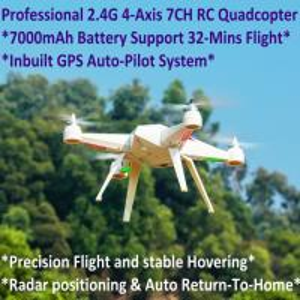 Wholesale 2.4G 7CH Headless Predator RC Quadcopter Drone 32-Mins Flight & Inbuilt GPS One-Key Return from china suppliers