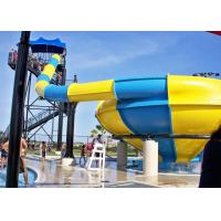 Wholesale Fiberglass Adult High Speed Water Slide , Huge Hole Water Park Slide from china suppliers