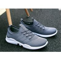 Wholesale Gray White Mesh Upper Slip On Sports Shoes , Korean Trend Mens Jogging Trainers from china suppliers