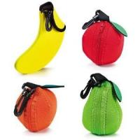 Wholesale Hop-selling Neoprene Fruit bag Fancy fruit pouch with hook Fruit sleeve Fruit holder from china suppliers