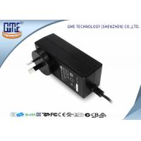 Wholesale Black 2 Prong 36W Switching Power Adaptor With 1.5m Cable , 84.78% Efficiency from china suppliers