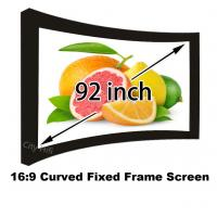 "Wholesale Curved Fixed Frame Matt White Projection Screen 92"" 16:9 Ratio 1080p Projector Screens from china suppliers"