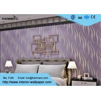 Wholesale Elegant Purple Removable Wall Paper , Hotel Modern Wall Covering from china suppliers