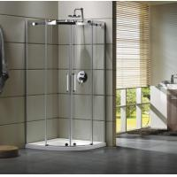 Wholesale Semi - Frameless Curved Glass Shower Door Enclosures For Bathroom 100 X 100 X 195 cm from china suppliers