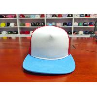 Wholesale High Quality 100% Cotton Mix Color Back Mesh Custom design logo Flat Bill  Snapback Caps Hats from china suppliers