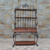 Wholesale Iron Art Furniture Customized for American Village design the Display Racks with wooden Drawers from china suppliers