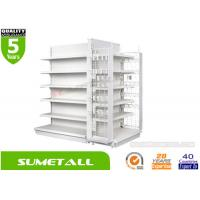 Wholesale Heavy Duty Convenience Store Shelving With Hooks , Gondola Retail Display Shelving from china suppliers