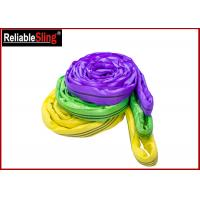 Wholesale EN 1492-2 Endless Polyester Round Sling , Flexible Soft Round Lifting Sling from china suppliers