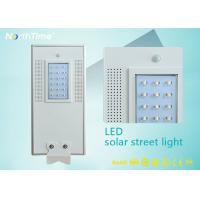 Wholesale All in One Solar Panel Street Lights LED Luminaires with Lithium Battery / PIR Motion Sensor from china suppliers