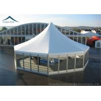 Wholesale High Peak Glass Wall Big Marquee Tents  5m By 5m With  Wooden Floor from china suppliers