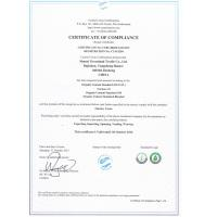 Shanxi Greenland Textile Co.,Ltd. Certifications