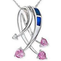 Wholesale Pink Sapphire & Opal & Diamond Pendant from china suppliers