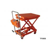 Hydraulic Lift Scale : Stationary lift table with scale foot pump hydraulic