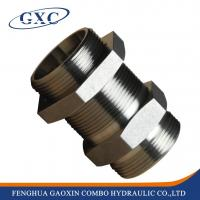 Wholesale 6C Factory Price Forged Metric MALE Straight Bulkhead Adapter fitting from china suppliers