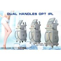 Quality Vertical OPT SHR IPL Hair Removal Machine , Dual Handles Elight IPL Beauty Equipment for sale