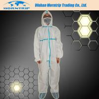 Buy cheap Reinforced Disposable Waterproof  PP SMS Microporous Nonwoven Safety Coverall from wholesalers