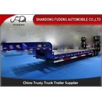 Wholesale Transport Heavy Large Machine Low Flatbed Trailer , 45 Ton - 55 Ton Low Bed Trailer from china suppliers