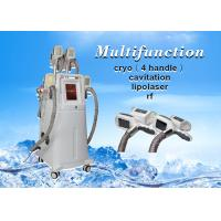 Wholesale 4 Cryolipolysis handles cavitation rf lipolaser Slimming Machine For Body and Face from china suppliers