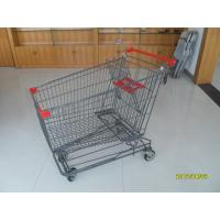 Wholesale 210L Wire Shopping Trolley wiht 4 Swivel 5 Inch Casters For Supermarket from china suppliers