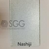 Wholesale Clear Glass Figured Glass Technique and Flat Shape Clear Nashiji patterned glass from china suppliers