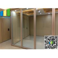 Wholesale Sliding Aluminum Glass Partition Wall , 10mm Tempered Glass Wall Partition from china suppliers