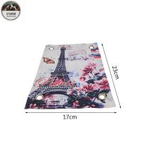 Wholesale Eiffel Tower Romantic Digital Printed Patches Art Work 23*17CM Size For Clothing from china suppliers