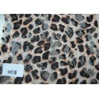 Wholesale Custom Digital Printed Stretch Sexy Leopard Lace Fabric By The Yard from china suppliers