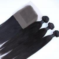 Wholesale 7A Top Quality Virgin Brazilian Human Hair Bundles With Cheap Free Parting Lace Closure from china suppliers