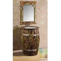 Wholesale Artistic Hotel Vanity Combo Bathroom Sink Cabinet With Wall Mirror from china suppliers
