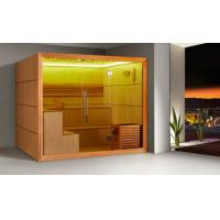 Wholesale Monalisa M-6052 sauna room Canadian red cedar sauna enclosure dry steam sauna house household African white wood Ayous from china suppliers
