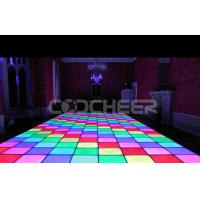 Wholesale Professional 50cm Inductive Led portable light up dance floor rental for wedding party from china suppliers