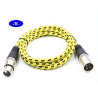 Wholesale PVC Nylon Braided Jacket Microphone Extension Cable , XLR 3 Pin Microphone Cable from china suppliers