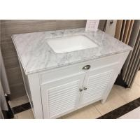 """Quality 22"""" X 37"""" Carrera Marble Bathroom Countertops High Polish With Rectangle Cutout for sale"""