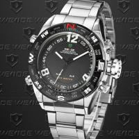 Wholesale Dual Time Weide Digital Sports Watch Analog Display , Men S Watches from china suppliers