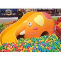 Wholesale Customized Fiberglass Yellow Elephant Slide For Kids , L270* W60*H135cm from china suppliers