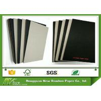 Wholesale 1.9mm Laminated Black Paper with Grey Back High Thickness Black Board from china suppliers