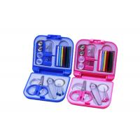 Wholesale Portable Pink Blue Color Travel Sewing Kits With Folding Plastic Case from china suppliers