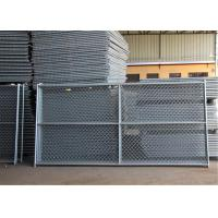 """Wholesale 6'x12' round tubing 1¼""""(32mm) x 16 ga thick temporary chain link fence cross barce hdg 275 mesh spacing 2½""""x2½"""" 63mmx63 from china suppliers"""