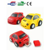 Wholesale Customized Red / Yellow Plastic CarShaped USB Flash Drive With Silkscreen Logo from china suppliers