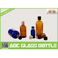 Wholesale Wholesale 1/2oz 1oz 2oz 4oz 8oz  Amber Cobalt Blue Boston Round Glass  Screw Bottle from china suppliers