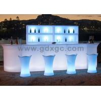 Wholesale Light up illuminated colored changeable bar counter table with remote control change different colors from china suppliers