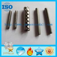 Buy cheap Coiled Slotted Spring Pin,Tooth type spring pin,Spring steel roll pin,Stainless steel roll pin,Stainless steel split pin from wholesalers