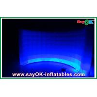 Wholesale White Inflatable Air Tent Waterproof , Curved Inflatable Wall For Exhibition from china suppliers