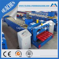 Wholesale Color Steel Glazed Tile Roll Forming Machine , Roof Wall Cladding Roll Former Machine from china suppliers